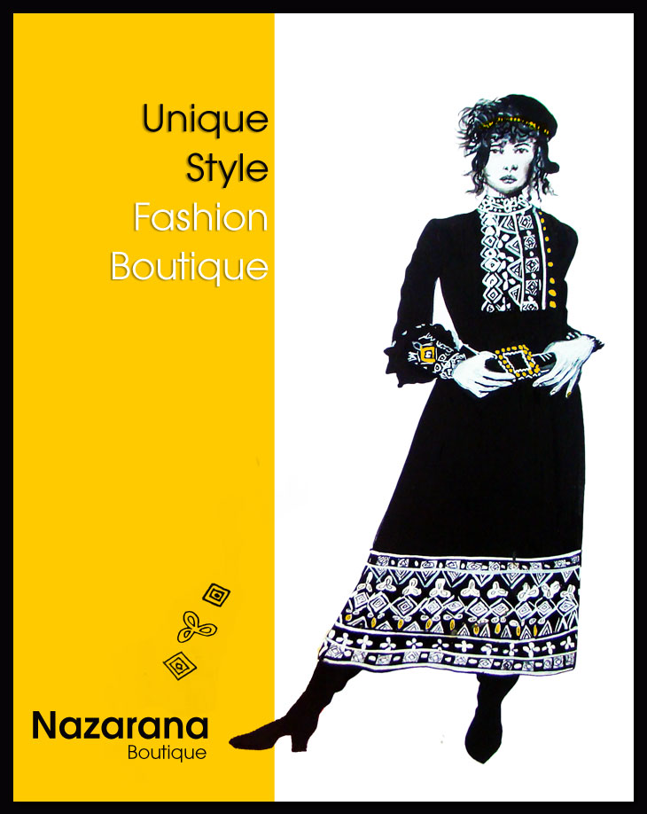 Illustrated poster on fashion