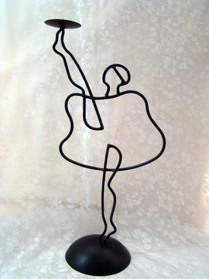 ballet dancer candle holder design