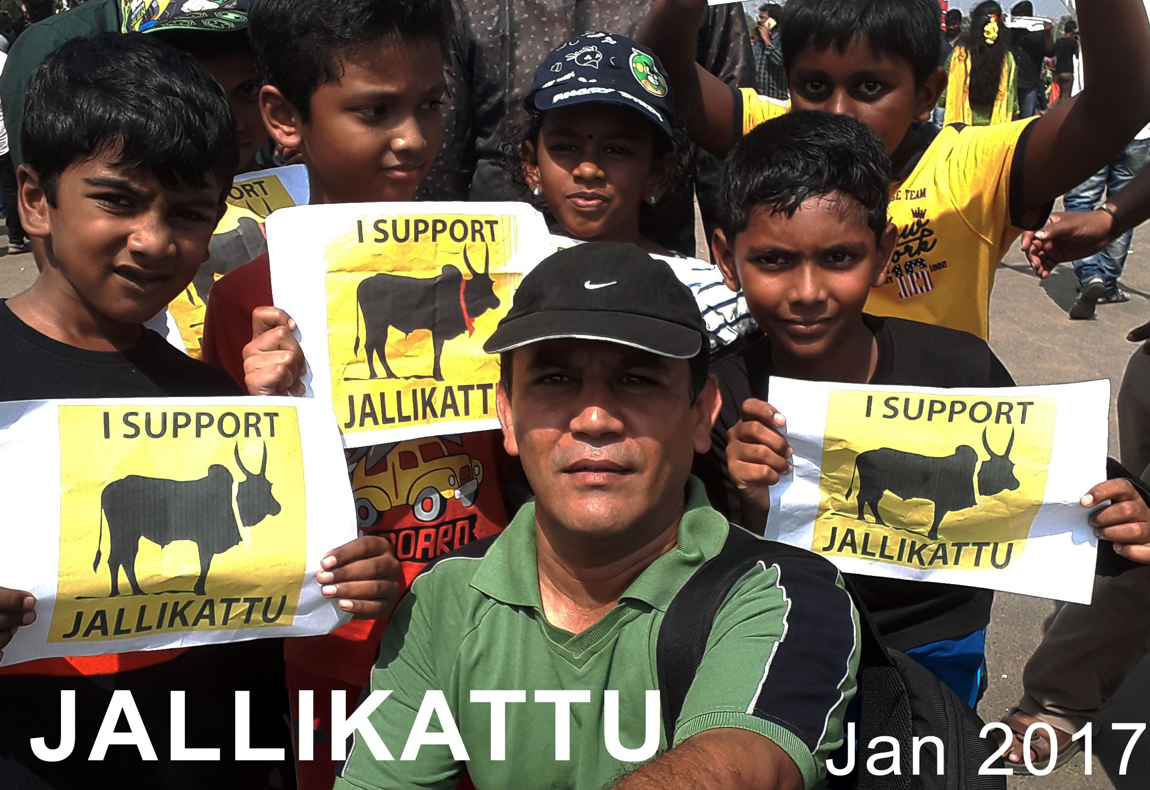 nahid sikander in support of jallikattu