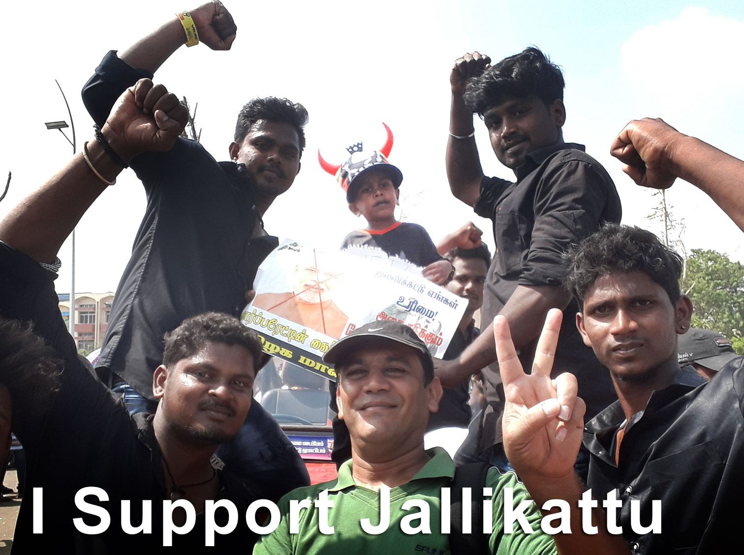 Jallikattu supporters