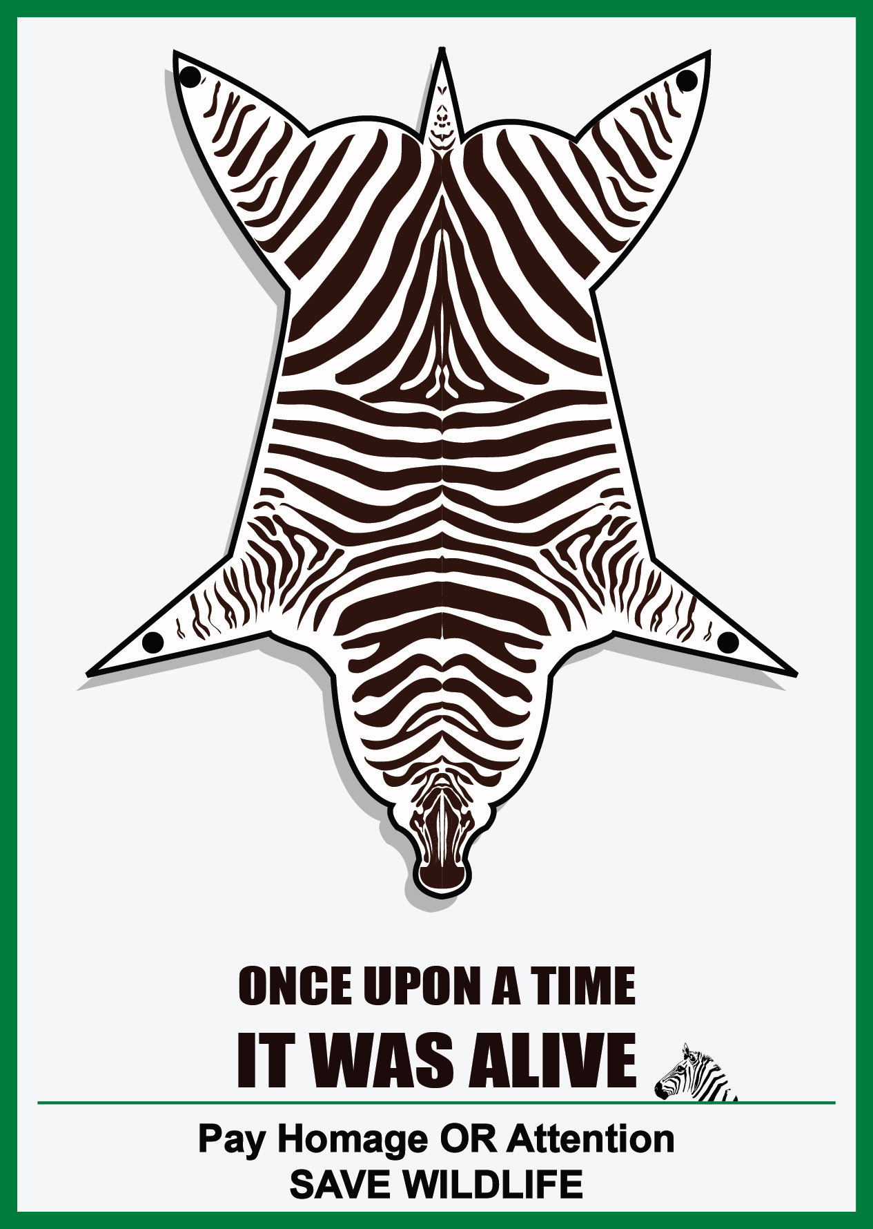 save wildlife poster