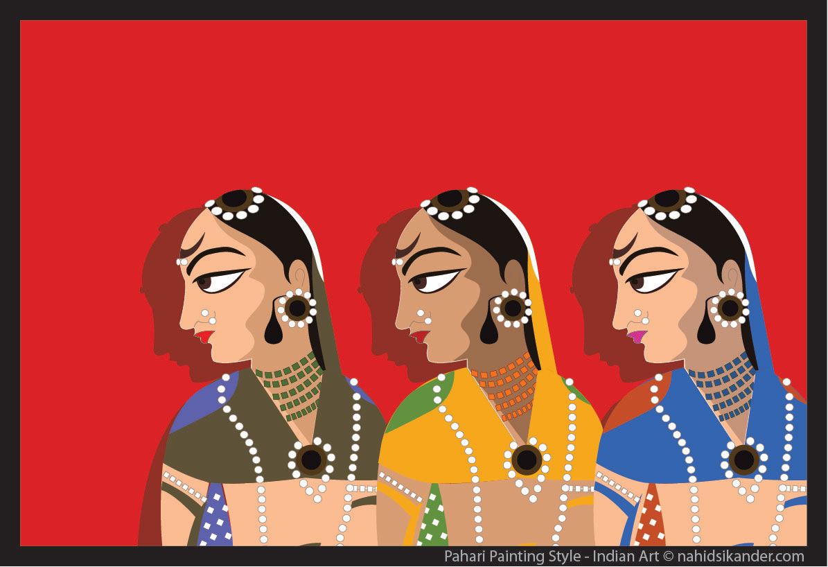 Indian art style, pahari painting