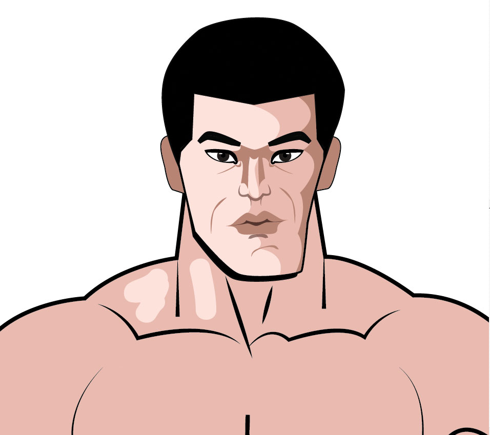 khali super hero character portrait in vector