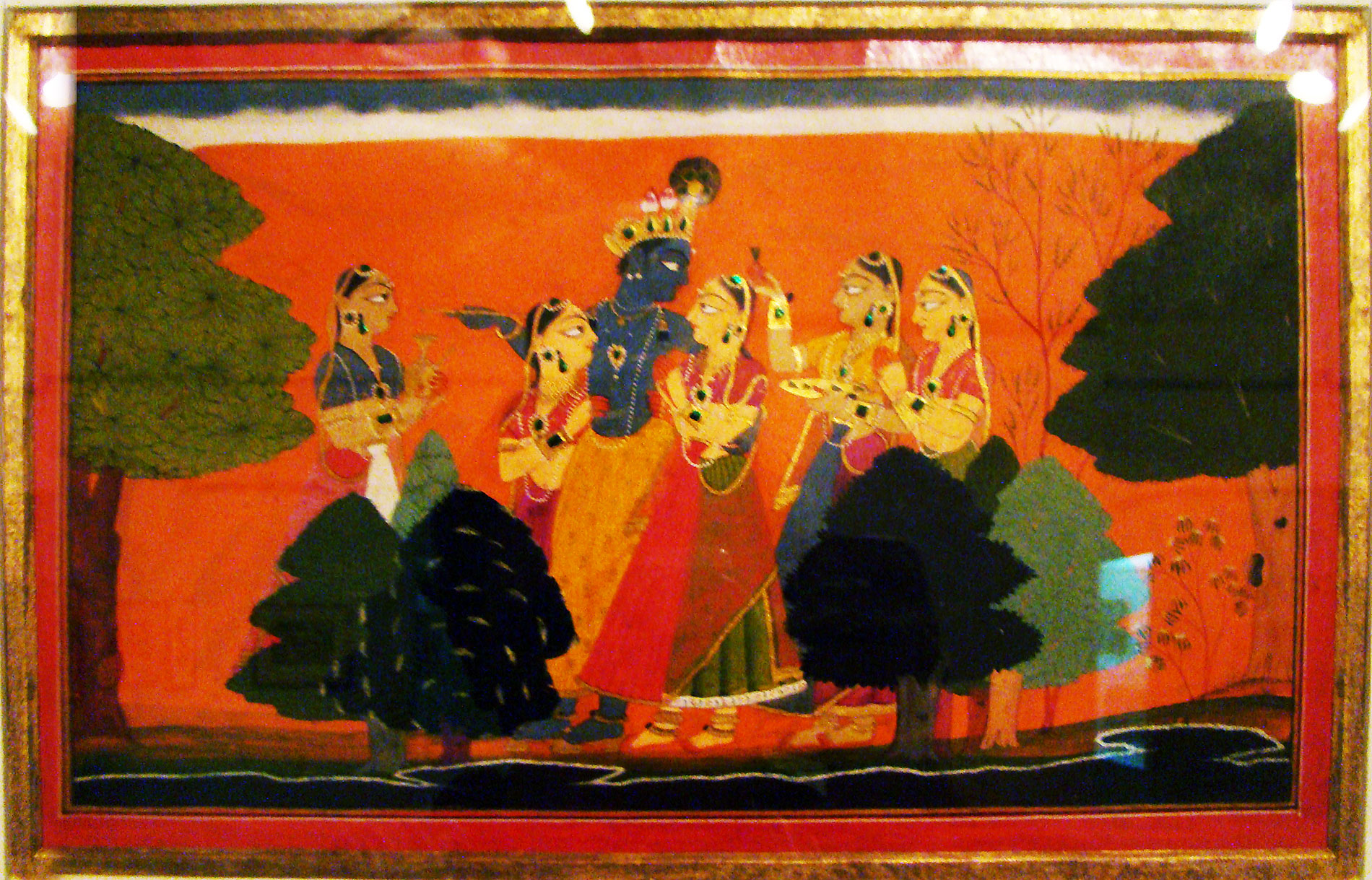 Krishna with gopies