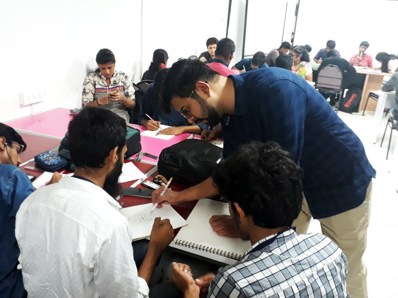 typography workshop-sudeep gandhi with students