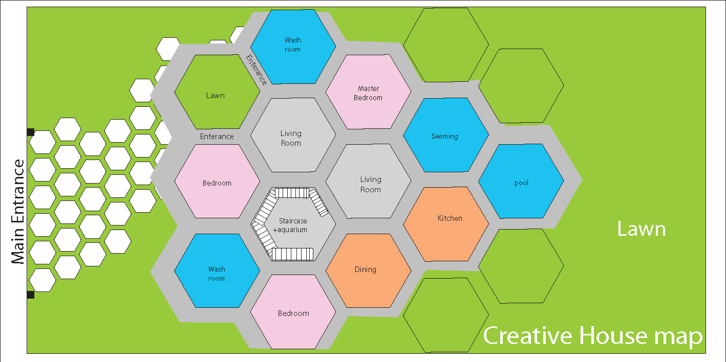 creative house plan, new concept