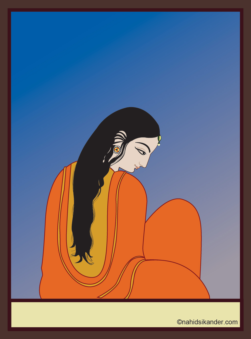 woman portrait, Indian art