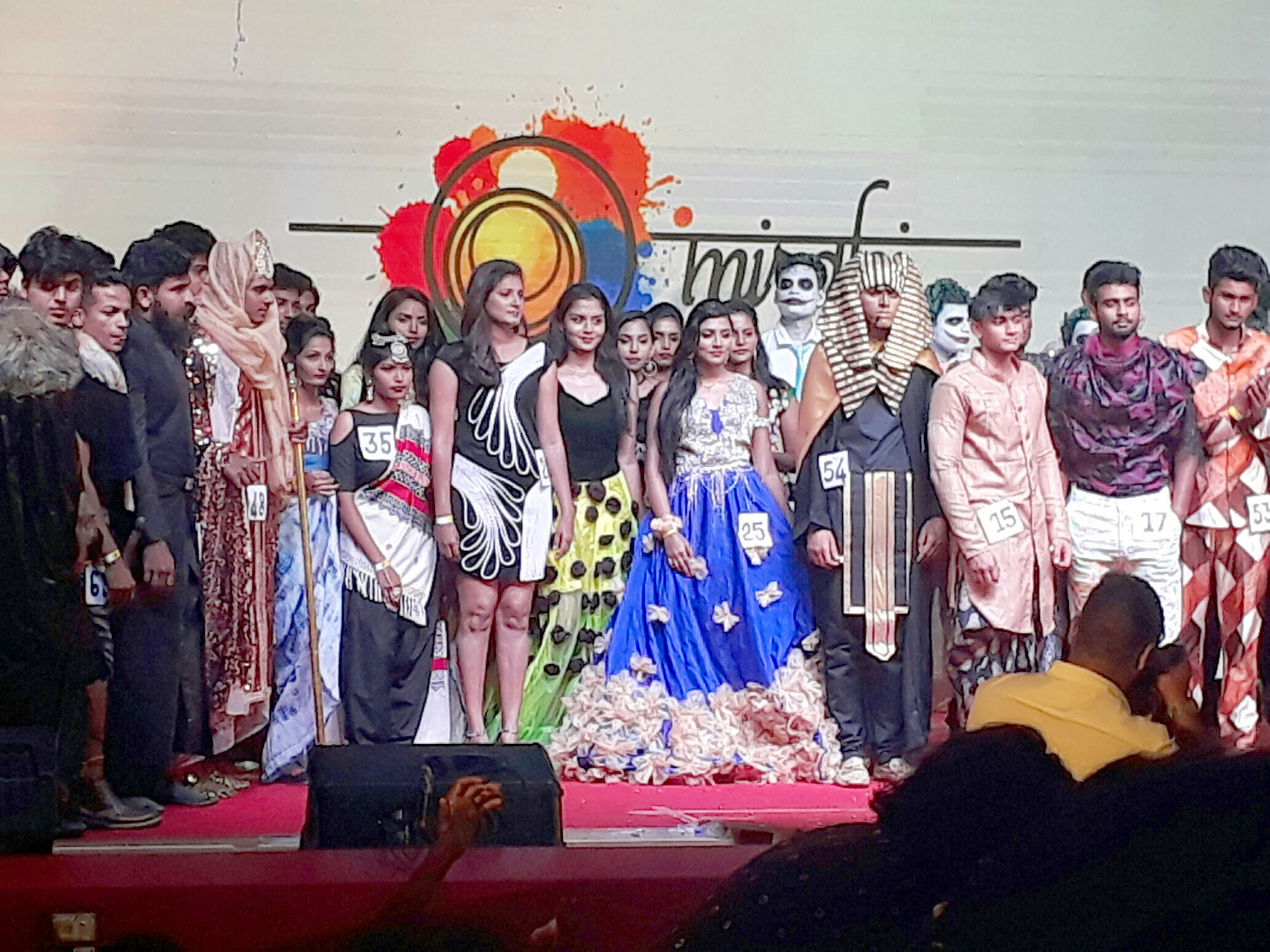 fashion show at miraki cultural. Icat Chennai