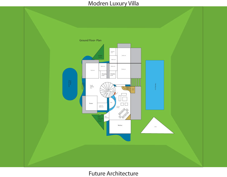 Modern Luxury villa plan